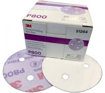50 disques Purple Finishing diam 75mm P800