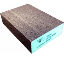 10 éponges abrasives 7990 SIASPONGE BLOCK super fine verte 69X98X26mm