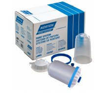 Standard NPS 48 poches jetables 750ml, 48 couvercles/filtres, 125µ
